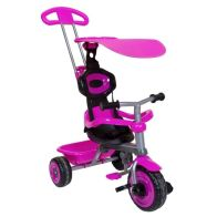 See more information about the Trike 4 In 1 Tricycle 3 Wheel With Canopy & Safety Guard - Pink
