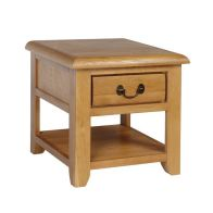See more information about the Oakham Oak 1 Drawer Lamp Table