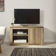 See more information about the Canyon TV Unit Brown 1 Door 2 Shelf