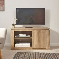 See more information about the Canyon TV Unit 2 Door 2 Shelf Oak Style