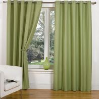 "See more information about the Canvas Eyelet Curtains (45"" Width x 54"" Drop) - Leaf"