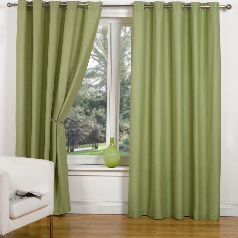 Canvas Eyelet Curtains 45 Width X 54 Drop