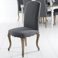 See more information about the Pair of Lancelot Studded Back Dining Chair Grey