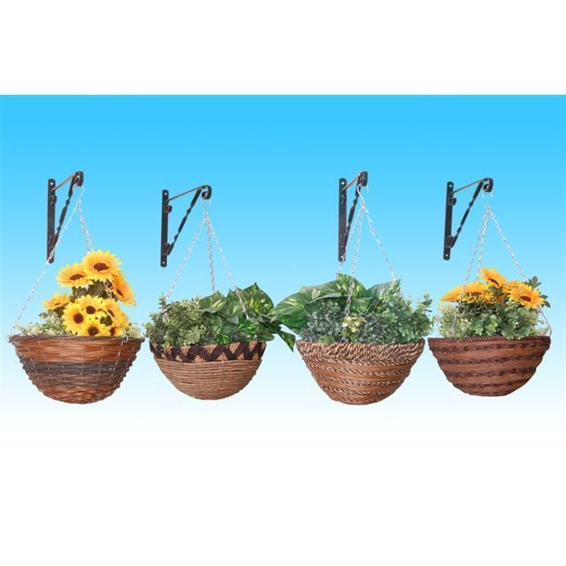 "African String Basket Planter (14"")"