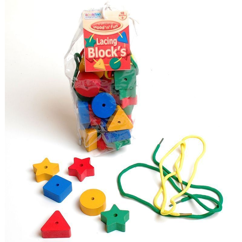 Toy Wooden Shapes in Bag