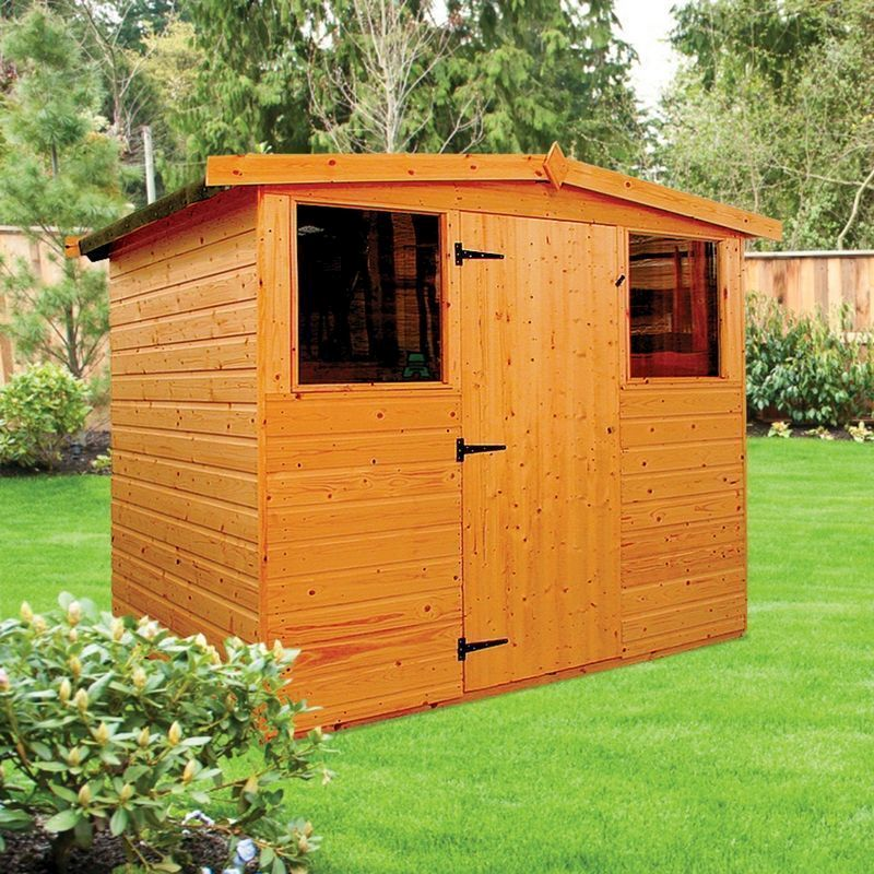Albany Dart Garden Shed Brown 8' x 6'