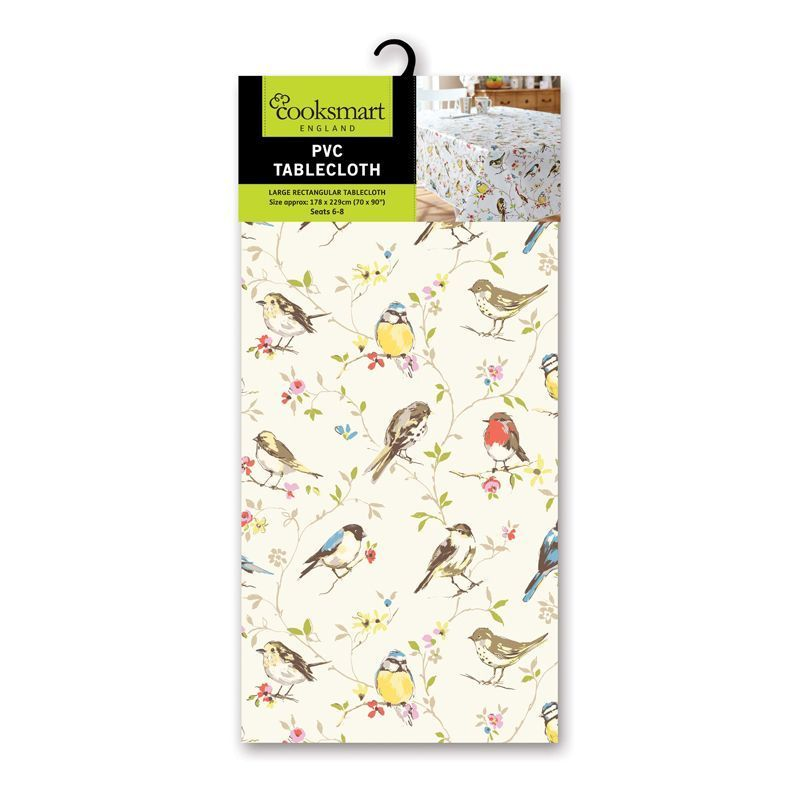 Cooksmart Large PVC Dinner Tablecloth - Dawn Chorus