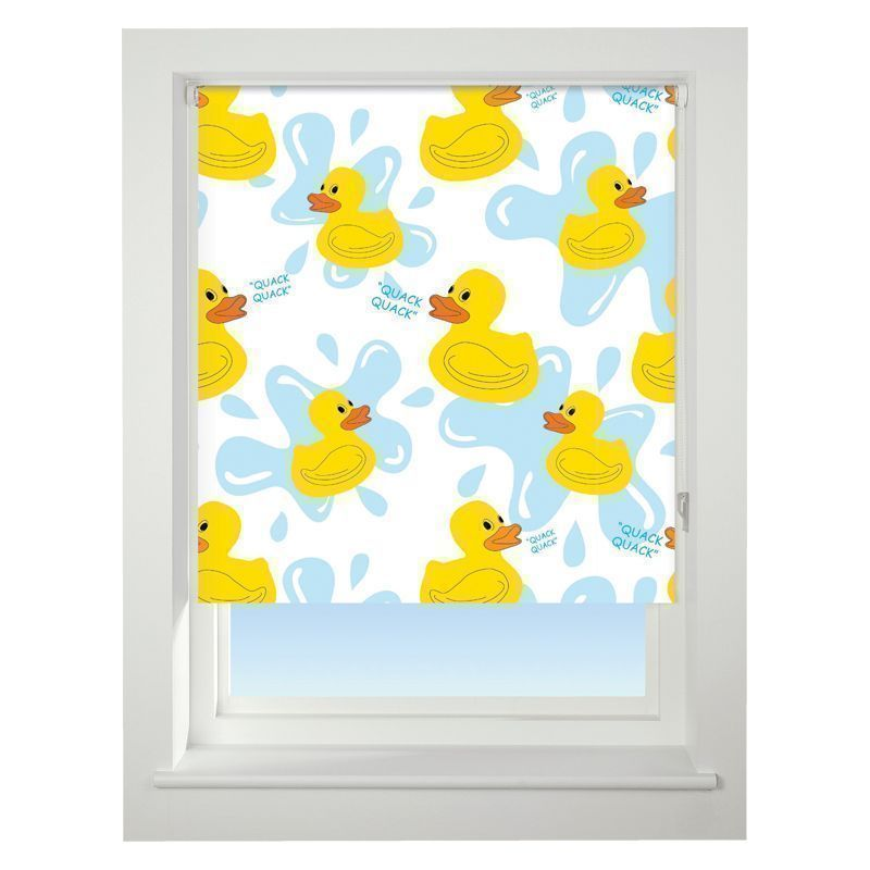 Universal 90cm Yellow & Blue Floral Quack Quack Daylight Roller Blind