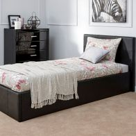 See more information about the Winston End Lift Single Ottoman Bed Black Faux Leather