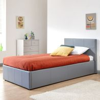 See more information about the Winston End Lift Single Ottoman Bed Grey Faux Leather