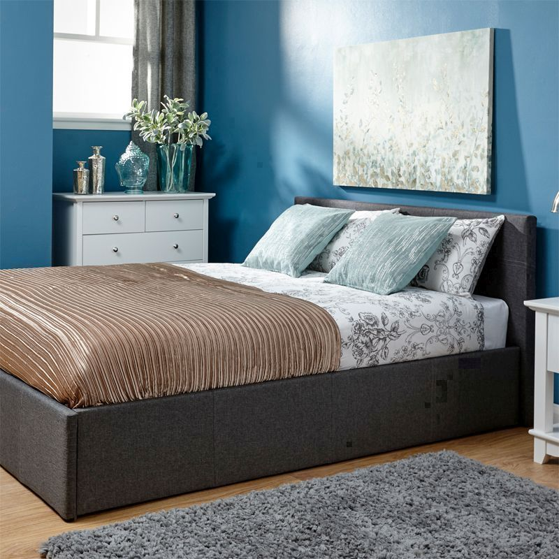 Winston King Size Bed Grey