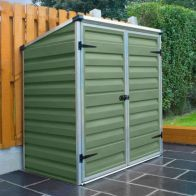 "See more information about the Mercia Palram Plastic Voyager Outdoor Garden Storage Shed 54"" x 35"""