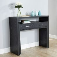 See more information about the Regis Extending Black Console Desk
