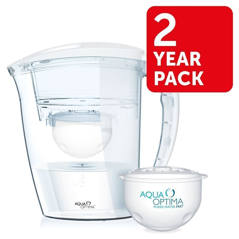 Aqua Optima Galia White Water Filter Jug 2 Year Pack