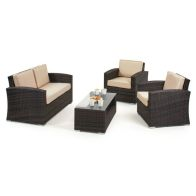 See more information about the Kingston 2 Seat Garden Sofa Set Brown