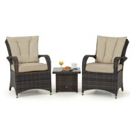 See more information about the Texas 3 Piece Garden Lounge Set Brown