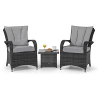 See more information about the Texas 3 Piece Garden Lounge Set Grey