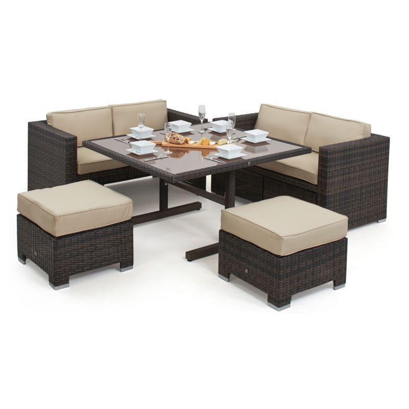 dbf291e3da27 Cube Garden Sofa Set Brown. Click here to enlarge Save
