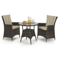 See more information about the LA 2 Seat Garden Bistro Set Brown