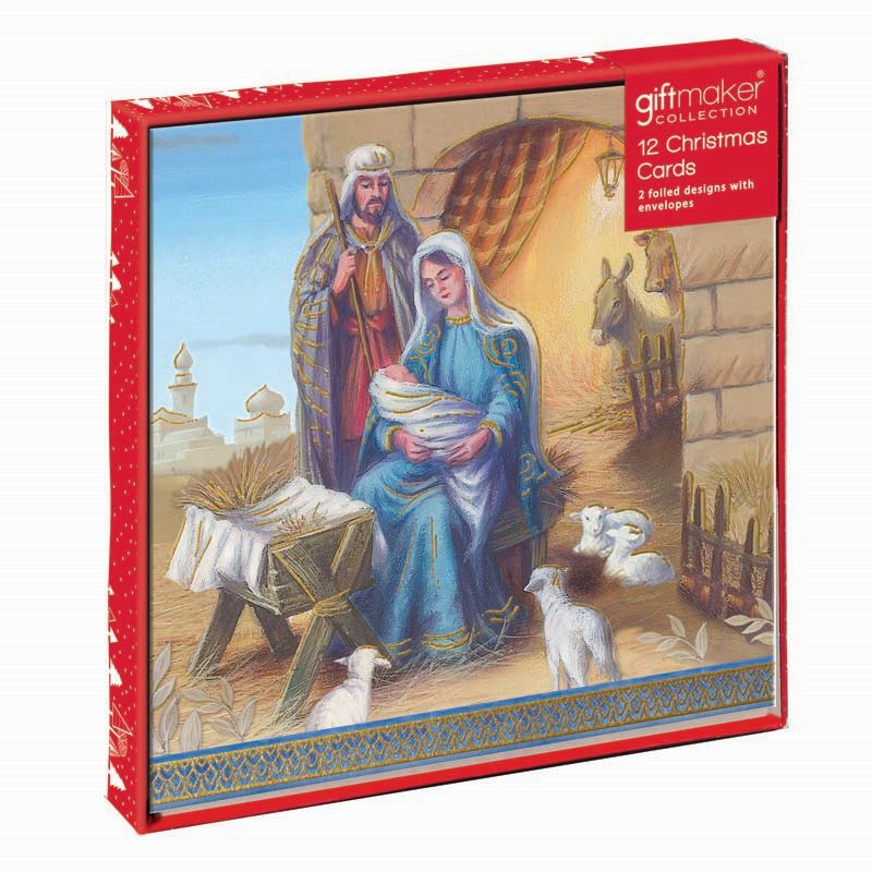 Christmas Cards Religious 12 Pack