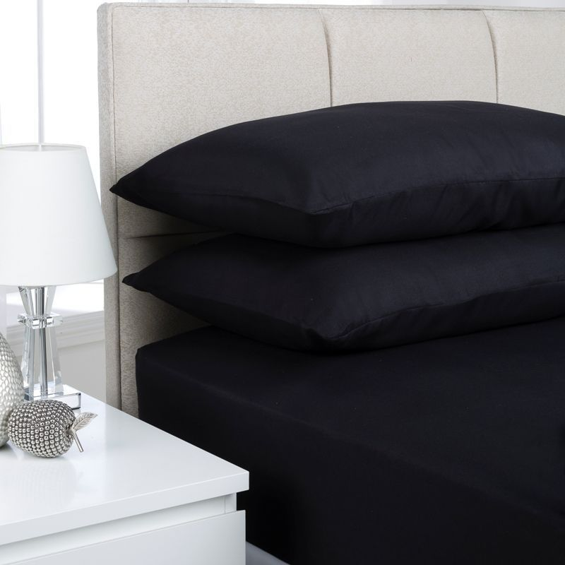 Fusion Fitted Sheet Single Bed Black