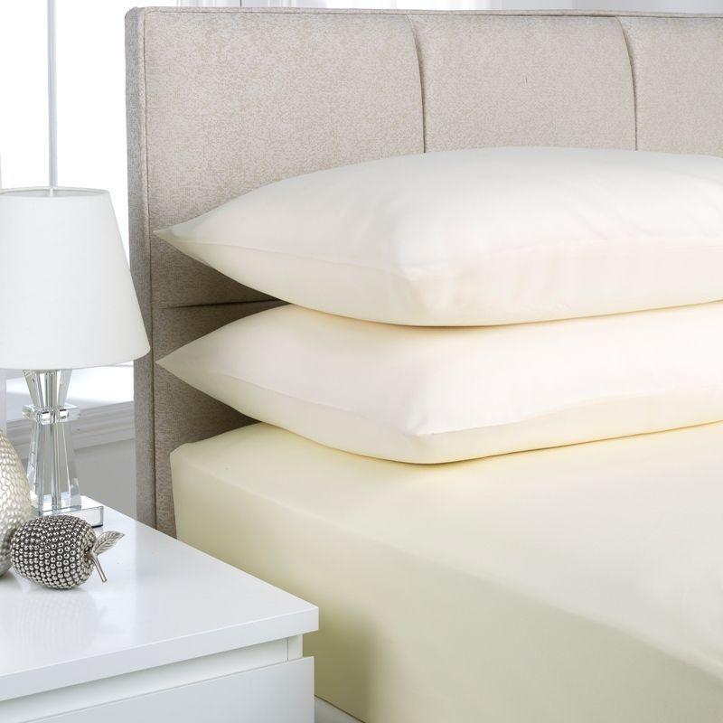 Fusion Fitted Sheet King Size Cream