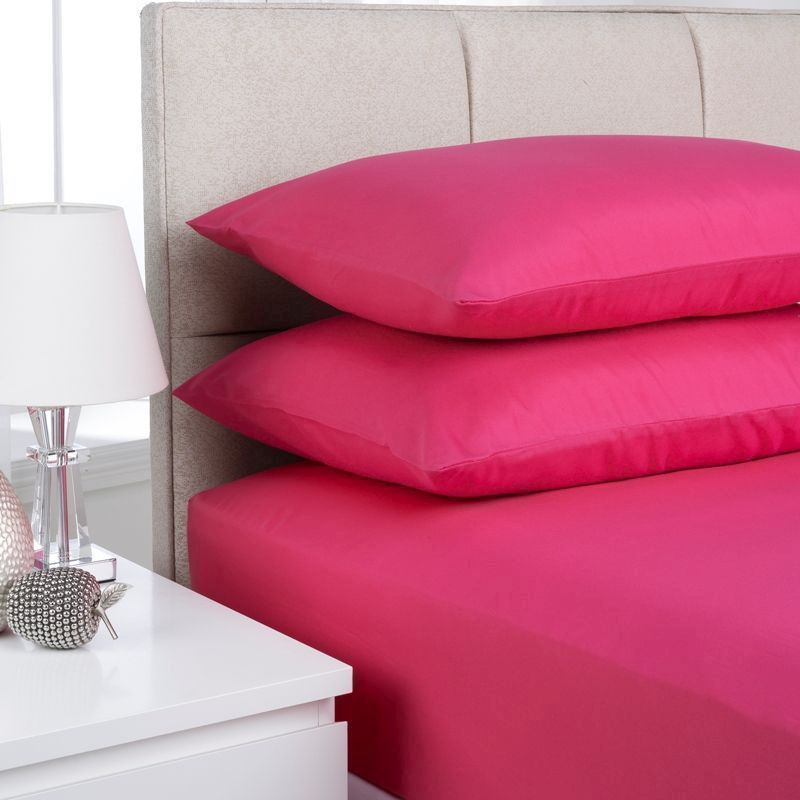 Fusion 2 Pack Pillow Case Cerise