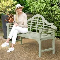 See more information about the Lutyens Style Painted Bench Sage Green