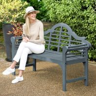 See more information about the Lutyens Style Painted Bench Slate Grey