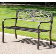 See more information about the Coalbrookdale Garden Bench Bronze