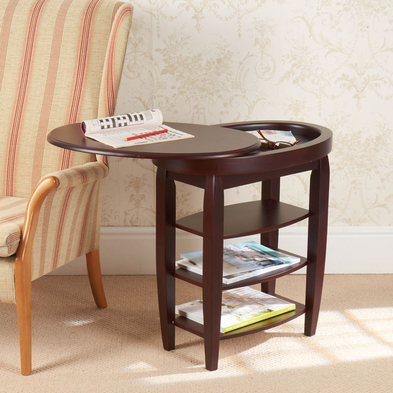 Swivel Top Table Mahogany Buy Online At Qd Stores