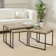 See more information about the Kubik Coffee Table Grey & Black Nest of 3