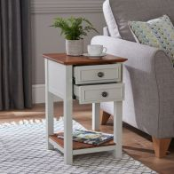 See more information about the Broadway End Table with 2 Drawers
