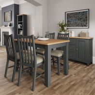 See more information about the Aurora Light Oak & Grey Extending 1.2 To 1.6M Dining Table