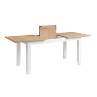 See more information about the Ava Oak Butterfly Extending 4/6 Seat Extending Dining Table White