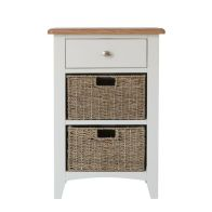 See more information about the Ava Oak & Wicker 3 Drawer Chest White