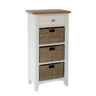 See more information about the Ava Oak & Wicker 4 Drawer Chest White