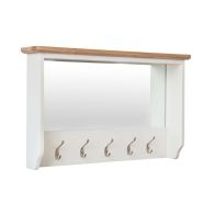 See more information about the Ava Oak Coat Rack Mirror White