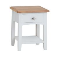 See more information about the Ava Oak 1 Drawer Side Table White