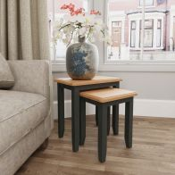 See more information about the Aurora Light Oak & Grey Nest Of 2 Tables