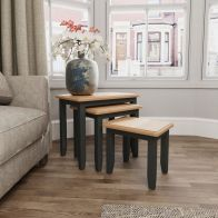 See more information about the Aurora Light Oak & Grey Nest Of 3 Tables