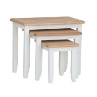 See more information about the Ava Oak 3 Nest Of Tables White