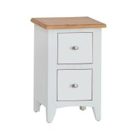 See more information about the Ava Oak 2 Drawer Narrow Chest White