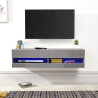 See more information about the Galicia Wall TV Unit Grey 2 Shelf 120cm