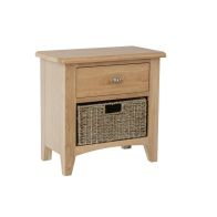 See more information about the Oxford Oak & Wicker 2 Drawer Chest