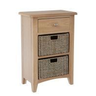 See more information about the Oxford Oak & Wicker 3 Drawer Chest