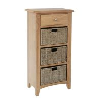 See more information about the Oxford Oak & Wicker 4 Drawer Chest