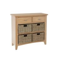 See more information about the Oxford Oak & Wicker 6 Drawer Chest