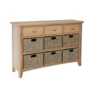 See more information about the Oxford Oak & Wicker 9 Drawer Chest