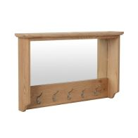 See more information about the Oxford Oak Coat Rack With Mirror